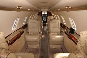 Citation Sovereign Jet Interior